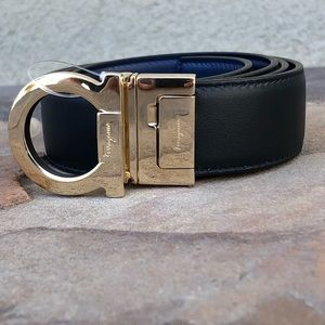NEW Salvatore Ferragamo reversible logo belt